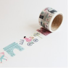Washi Tape Primaute (Wide) - Bonjour Champs Elysees