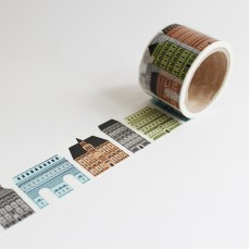 Washi Tape Primaute (Wide) - Gothic Buildings