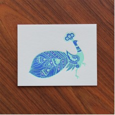 Batik Peacock Note Card