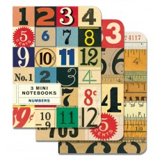Numbers 3 Mini Notebooks