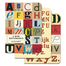 Alphabet 3 Mini Notebooks