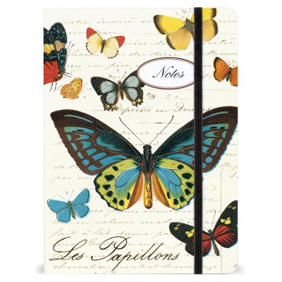 Butterflies Notebook with Elastic Band