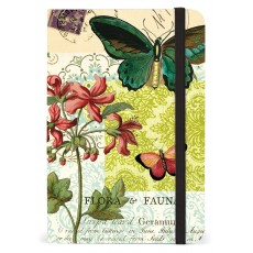 Flora & Fauna Small Notebook with Elastic Band