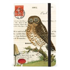 Owl Small Notebook with Elastic Band