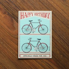 Happy Birthday Bicycles 2 Greeting Card