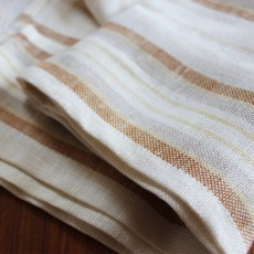Pallette Table Linen - Striped Natural
