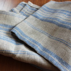 Pallette Table Linen - Striped Soft Blue