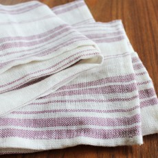 Pallette Table Linen - Striped Soft Lilac