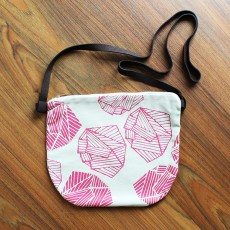 Pocket Sling Bag - Natural / Raspberry Raga