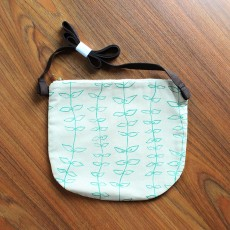 Pocket Sling Bag - Natural / Turquoise Knots