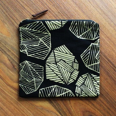 Everyday Pouch - Black / Gold Raga