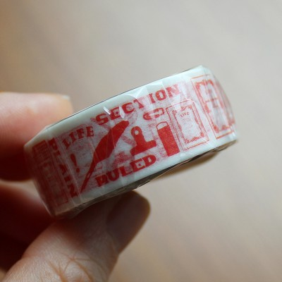LIFE Washi Tape (10th Anniversary Limited Edition) - SHU (Red)