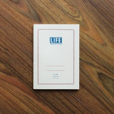 Life Vermilion Notebook B6 (7mm Ruled)