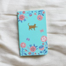 Pocket Notebook - Flower & Cat Emblem