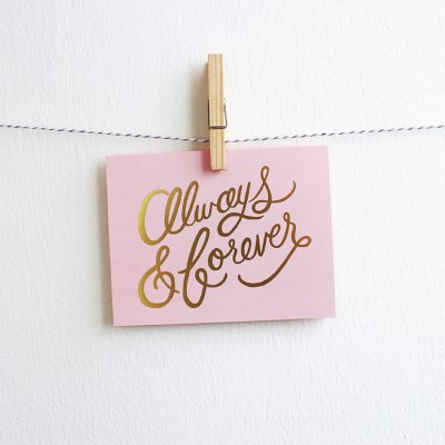 Love Greeting Card - Always & Forever