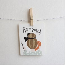 Everyday Greeting Card - Bonjour