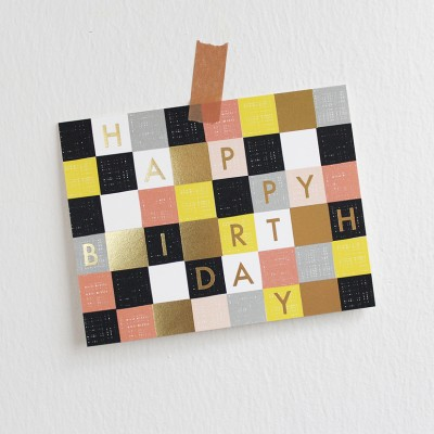 Garance Doré Collection - Checkered Birthday Greeting Card