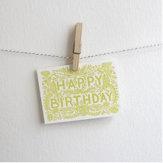 Letterpress Card - Happy Birthday