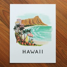 Hawaii Illustrated Art Print (11x14 in)