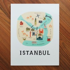Istanbul Illustrated Art Print (11x14 in)
