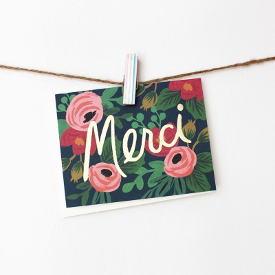 Rosa Merci Card