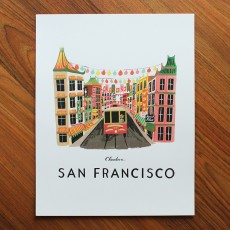 San Francisco Illustrated Art Print (11x14 in)