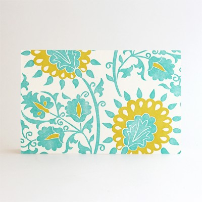 Anais Letterpress Note Cards - 6 pcs