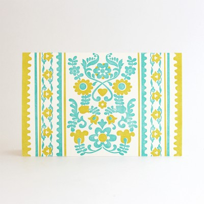 Amby Letterpress Note Cards - 6 pcs