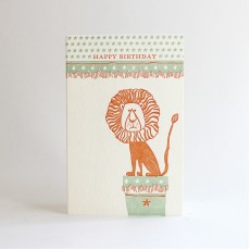 Circus Letterpress Birthday Card