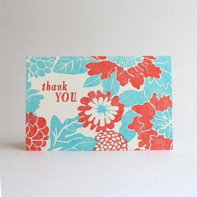 Botanical Thanks Letterpress Cards