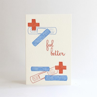 Feel Better Letterpress Card