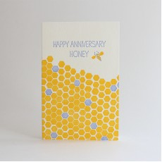 Happy Anniversary Honey Letterpress Card