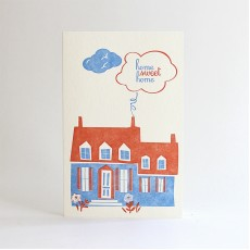 Home Sweet Home Letterpress Card