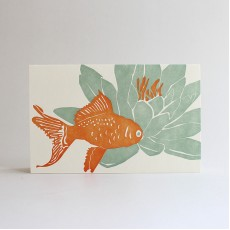Koi Letterpress Note Card
