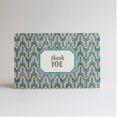 Circa Letterpress Thank You Card