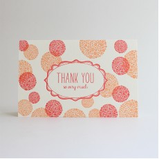 Thank You Bubbles Letterpress Card
