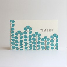 Jade Letterpress Thank You Card