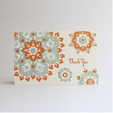 Persimmon Crochet Letterpress Thank You Card