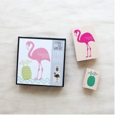 Flamingo Pineapple Stamp Set