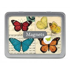 Butterflies 24 Magnets in Tin