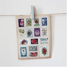 Vintage Stamp Stickers