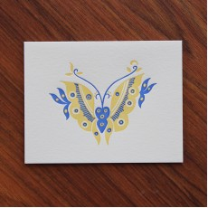 Batik Butterfly Note Card
