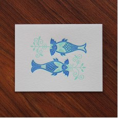 Batik Fishes Note Card