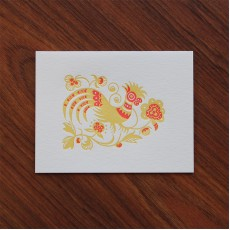 Batik Rooster Note Card