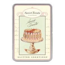 Sweet Treats Glitter Greetings Postcards