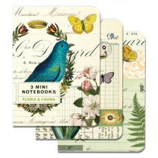 Flora & Fauna 3 Mini Notebooks