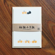 Washi Small Letter Writing Set - Butterly & Cat