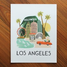 Los Angeles Illustrated Art Print (11x14 in)
