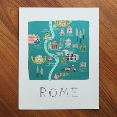 Rome Illustrated Art Print (11x14 in)
