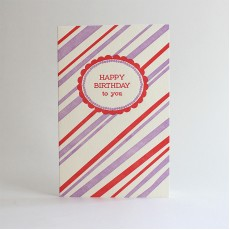 Regent Letterpress Birthday Card